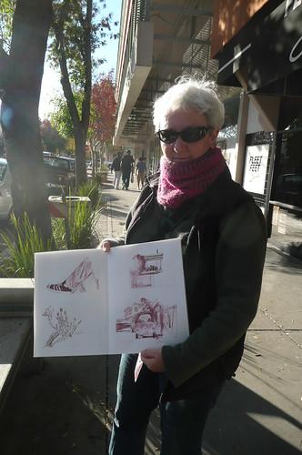Alison sketches Davis
