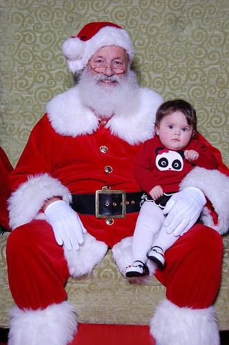 Hanging with Santa, no big whoop.