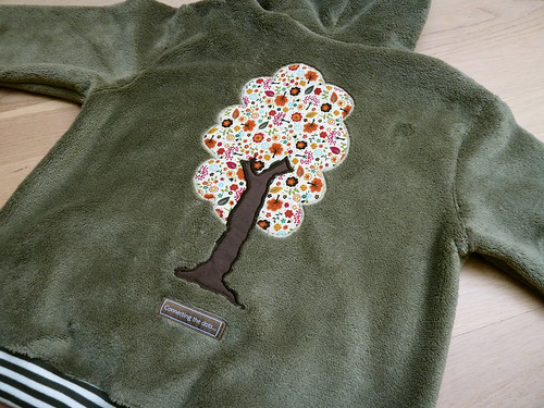 Back of hooded sweater