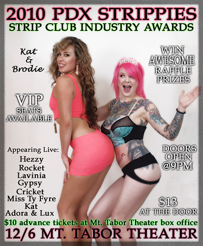 "December 6: Portland Strip Club Industry Awards (""PDX Strippies"") @ MT Tabor Theater"