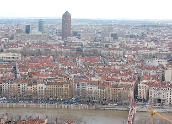 Lyon, taken from the basilica of Notre-Dame de Fourvière.