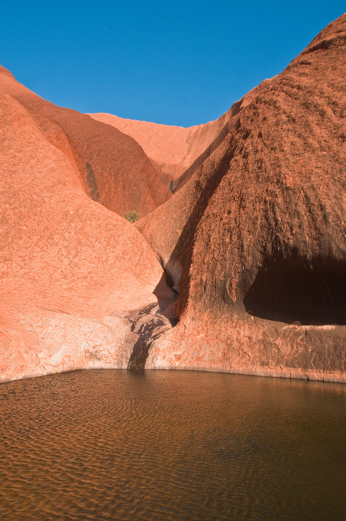 Waterhole at the base of Uluru