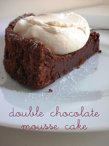 michel rostangs's double chocolate mousse cake
