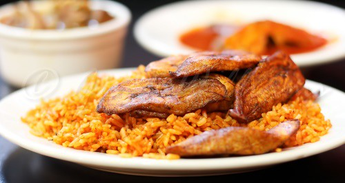 Jollof Rice and Plantains