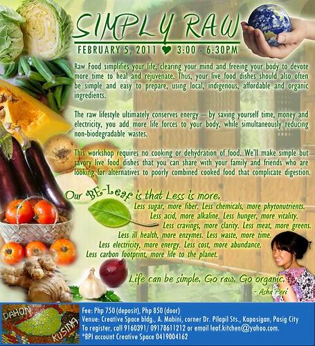 Simply Raw (a raw food workshop)