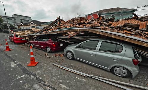 Cars crushed