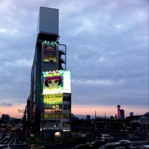 天王寺を後に、竹蔵へ向かうよーーーー! みんなー、待っててね!(๑╹◡╹๑) #Osaka #Tennoji #Abeno