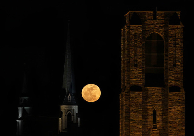 Super Moon rises over Frederick last night