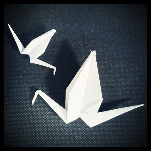 Lunchtime Cranes for #1000cranes