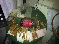 Bobbin Lace, Tucked in the Craft Room