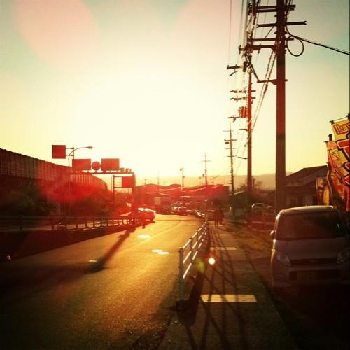 夕暮れ時。今日も一日、お疲れ様でした。 #Nara #sunset