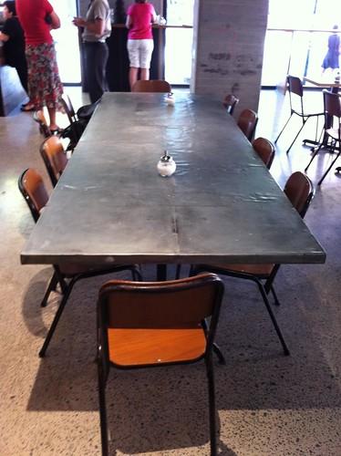big communal table - mecca espresso, ultimo
