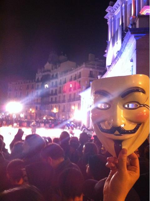 Manifestantes en la Plaza de Oriente