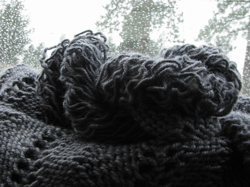 Emiily Shmemily Shawl Unraveled to add gartered lace
