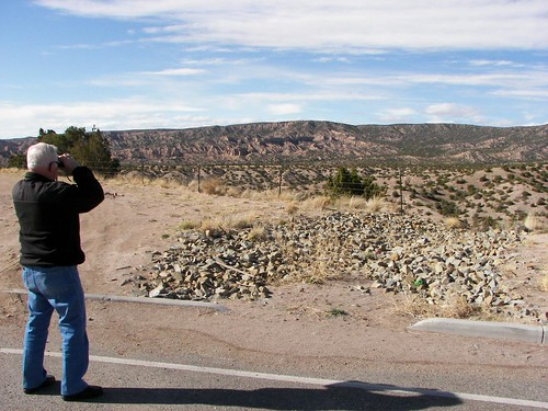 Dad with Binoculars, High Road to Taos