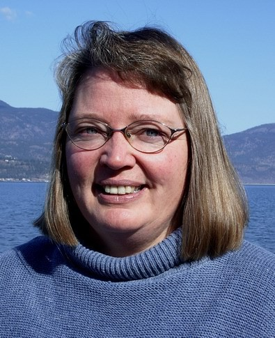 Karen Autio at Okanagan Lake