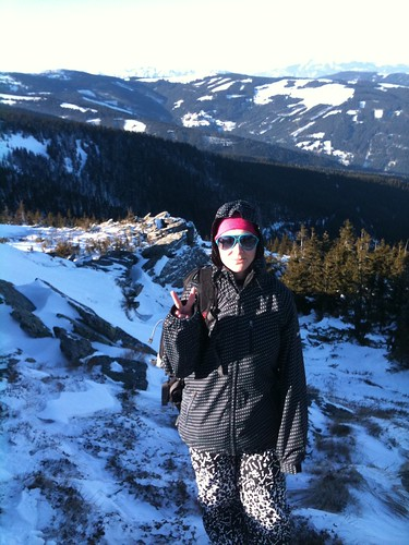 snowshoeing is fun!