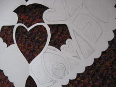 paper lace heart wip closeup