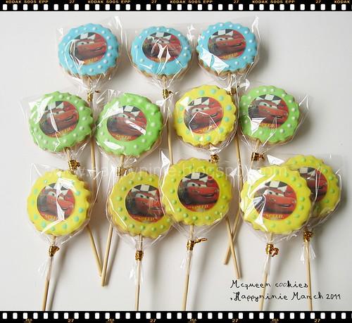 cookies mcqueen edible image