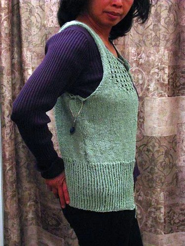 Audrey in Unst Ready for Sleeves (Side)