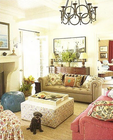 Markham Roberts living room Pavoncelli