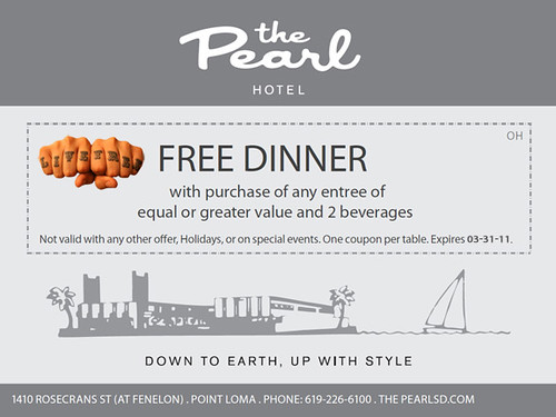 Pearl Free Dinner Web Coupon