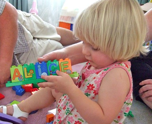 Alice gets some duplo