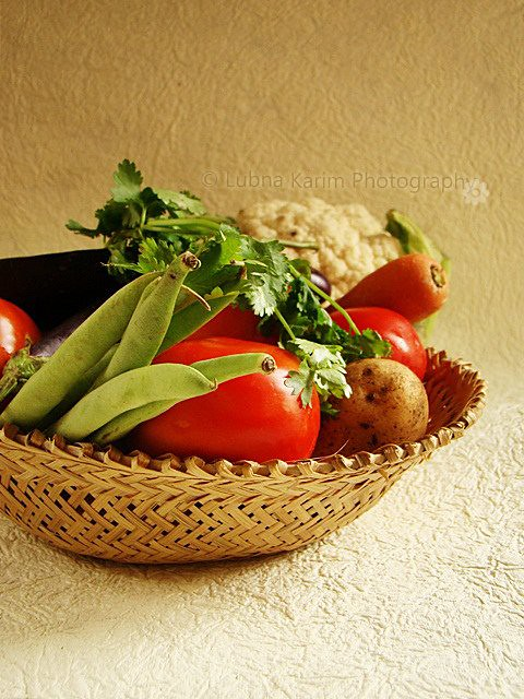 Mixed Vegetables In Basket