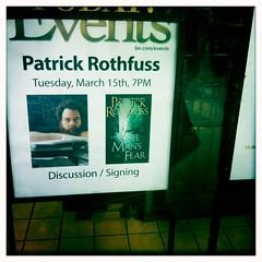 Patrick Rothfuss Signing 2