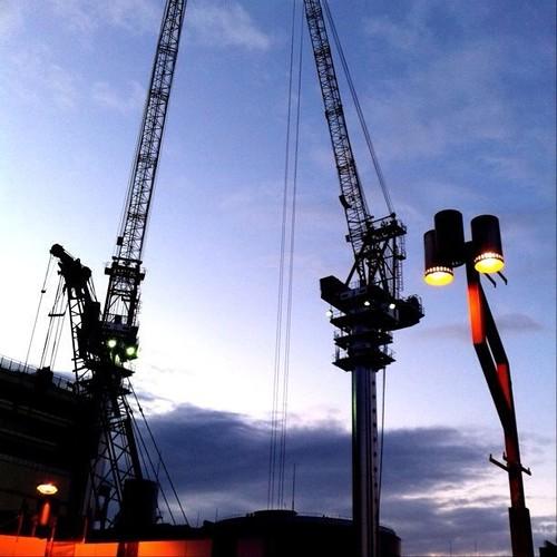 お昼休みは、クレーン祭りで! ハッシュタグは、これ!⇨ #crane
