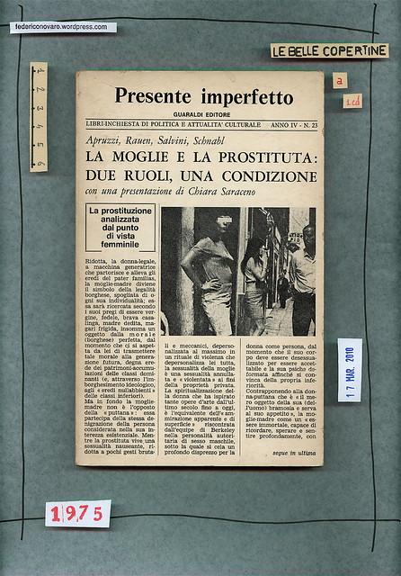 Isa Apruzzi, Birgid Rauen, Daniela Salvini, Elena Schnabl, La moglie e la prostituta: due ruoli, una condizione. Guaraldi 1975. Copertina
