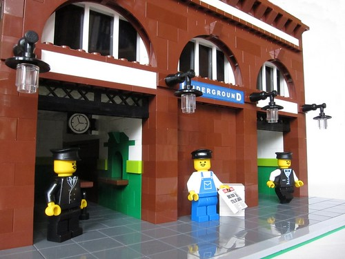 Leslie Green style London Underground Station made from Lego