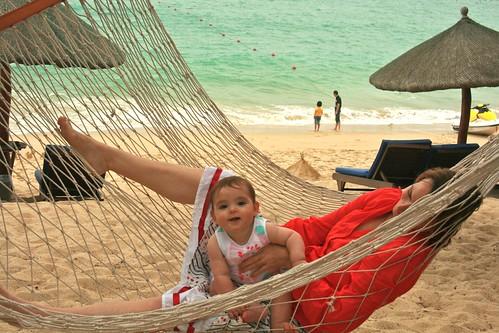 Mum and bub in the hammock