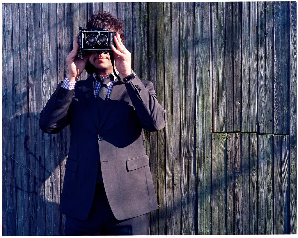 ansel with a camera in front of his face