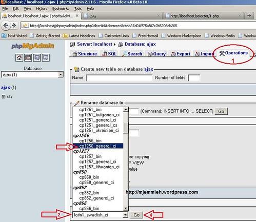 database mysql arabic