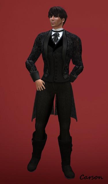 BlakOpal Steampunk Formal Suit - Black