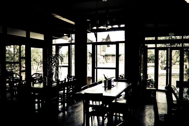 Dining area inside Casa San Pablo