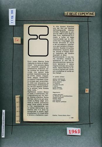 Djuna Barnes, Bosco di notte, Bompiani 1968. quarta di copertina