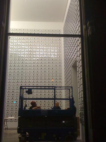 Allan McCollum work installed at Thomas Schulte Gallery in Berlin