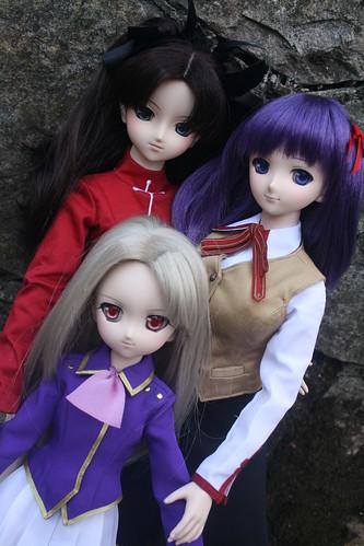 Rin, Sakura and Illya