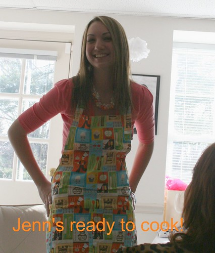 Jenn in the apron I gave her