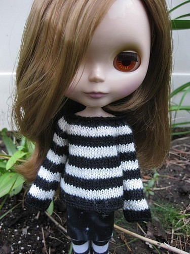 Etsy annearchy Blythe Custom Made Stripey Sweater $14