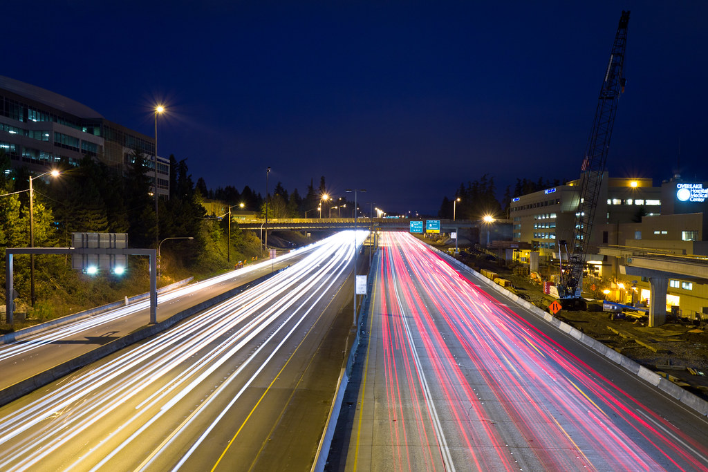 I-405 light trails