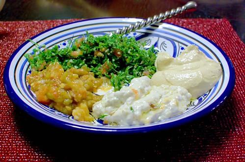 Tabouleh, Hummus, Maulbek, Babbaganoush