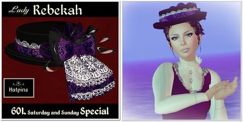 Hatpins Lady Rebekah - Sixty Linden Weekend