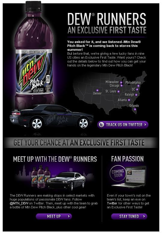 Mt Dew Pitch Black returns
