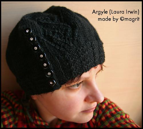 black Argyle hat
