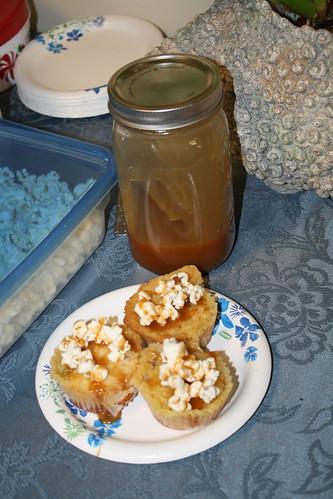 Gooey Butter Caramel Corn Cupcakes