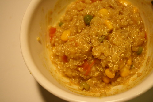 mixed coconut curry with quinoa