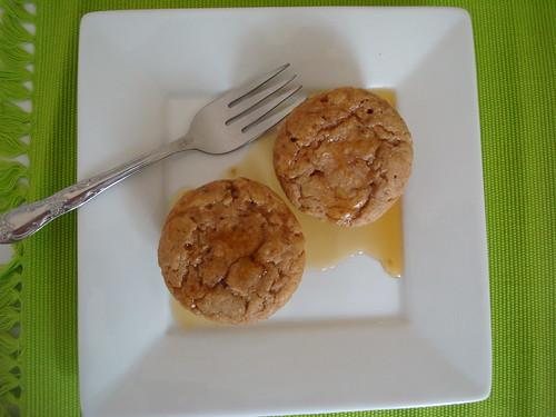 Nutella-filled Banana Pancake Muffins